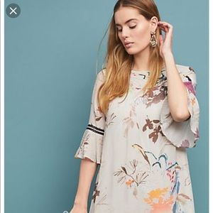 Anthropologie Vineet Bahl Fleur Tunic Dress